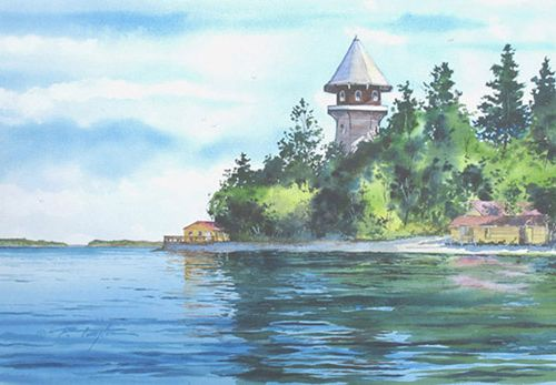 Watercolor by Paul Allen Taylor